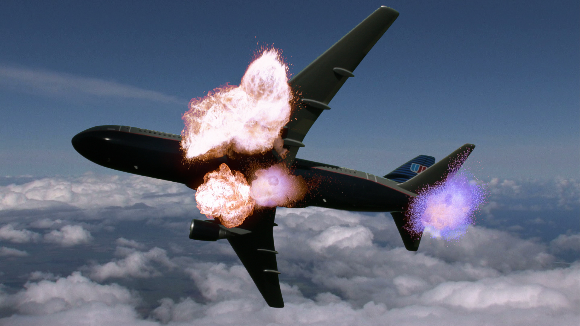 Composite Airliner Miniature Explosion