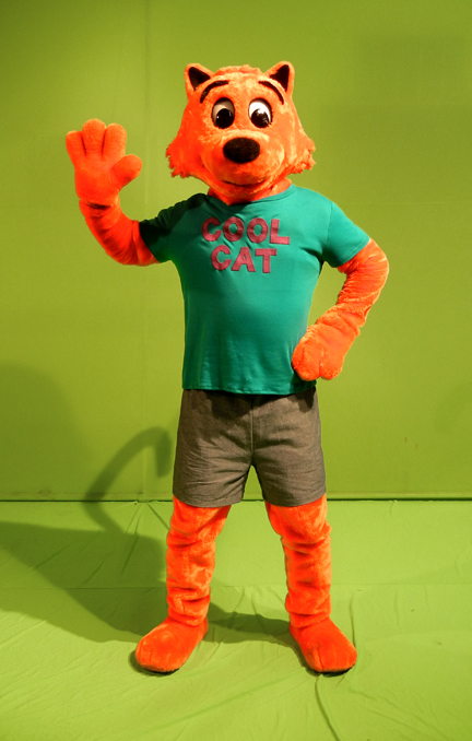Cool Cat Mascot Costume