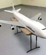 11ft 747 miniature model
