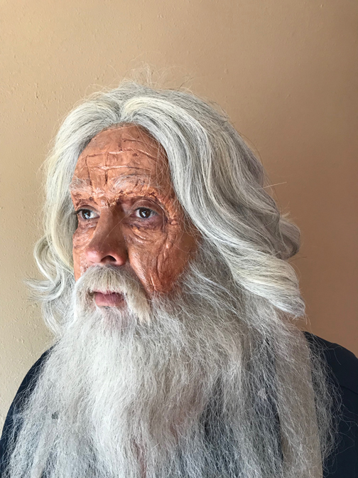 Old Age Prosthetic Make up