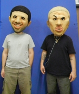 Drake and Chris Brown Mascots