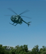 Composite Miniature Green Screen Helicopeter Flight