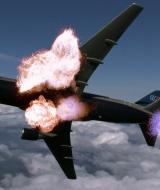 Composite Airliner Miniature Explosion