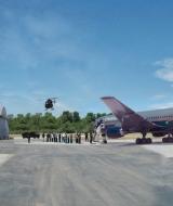 Miniature Building Vehicle Airplane Composite