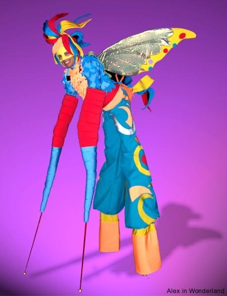 Butterfly Stilt Costume