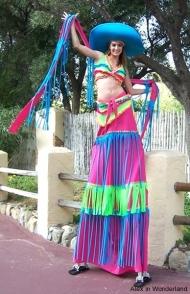 Carnaval Girl Stilt Costume
