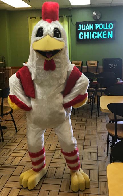 Juan Pollo Chicken Mascot