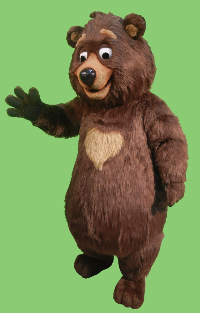 Heart Bear Zoo Mascot
