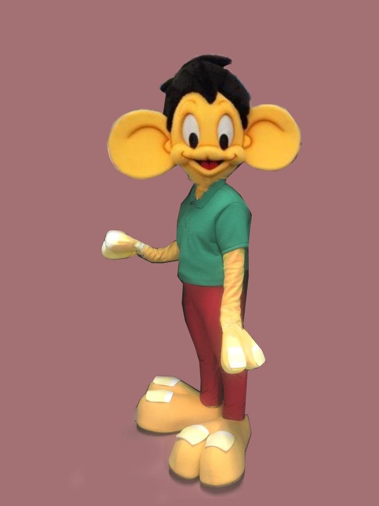 Joe Two Toes mascot for Cartoon character launch