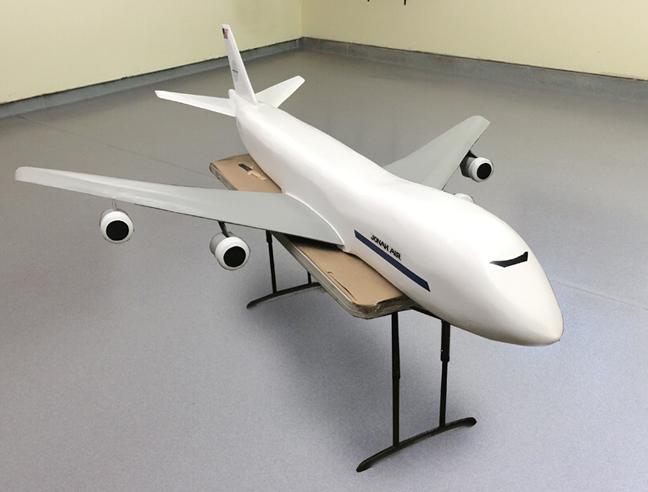 11ft 747 miniature model