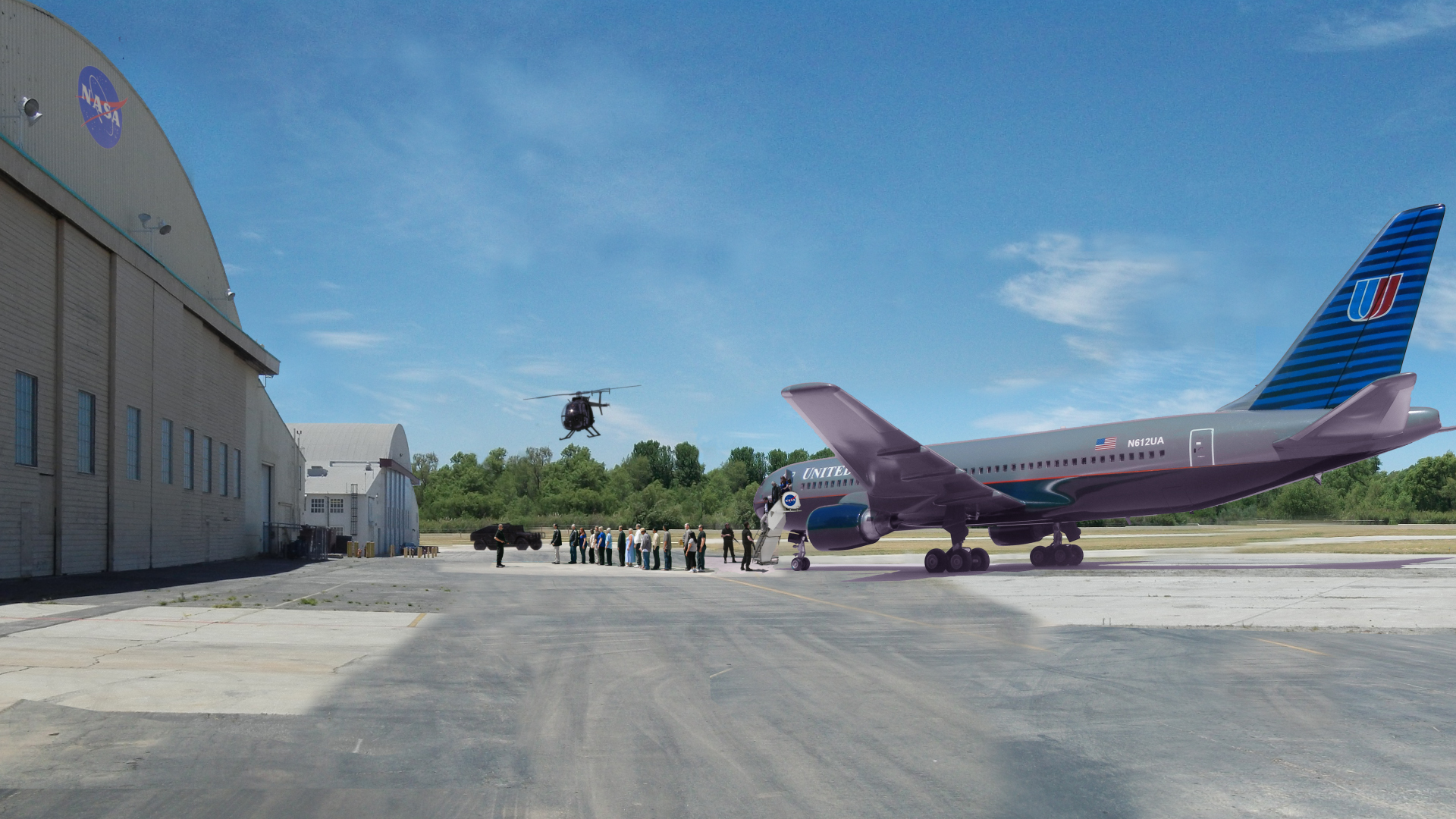 Miniture Building Vehicle Airplane Composite