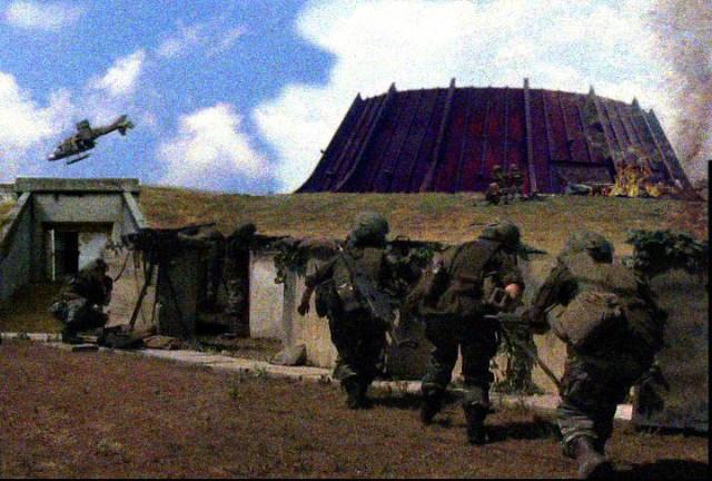 Sentinel's protect the command center at Galatia forward base 23