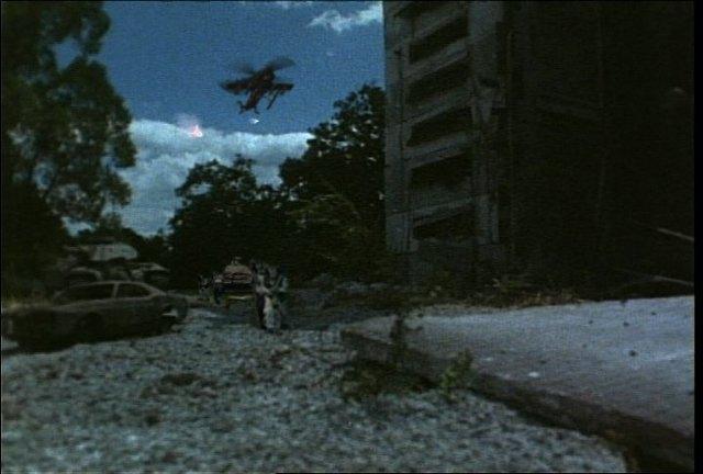 Aerial missiles firing at bandits