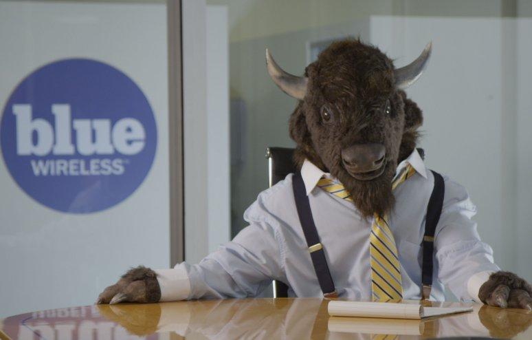 Blue Wireless Buffalo Man