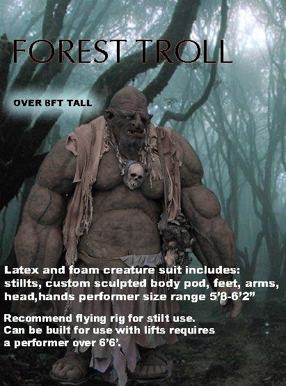 Giant Troll Professional Halloween CostumeALLOWEEN